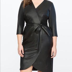 Eloquii Faux Leather Wrap Dress NWT Size 18